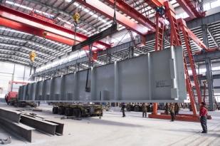 同煤朔南热电2x350MW超临界CFB循环硫化床锅炉钢结构大板梁
