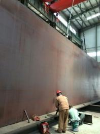 大同朔南2x350MW超临界锅炉大板梁组立
