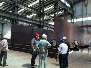 大同朔南2x350MW超临界锅炉大板梁组对